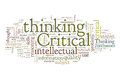 Critical thinking words cloud about Stock Photography
