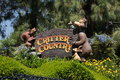 Critter country at disneyland where you can ride splash mountain and other rides the park Stock Images