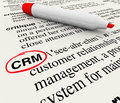 Crm customer relationship management dictionary definition the word phrase or acronym which means defined in a with the circled by Stock Image