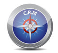 Crm guide compass illustration design over a white background Royalty Free Stock Image