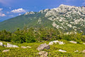 Crnopac peak of velebit mountain nature dalmatia croatia Royalty Free Stock Image