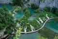 Croatiaâ s national park plitvice lakes top view Royalty Free Stock Images