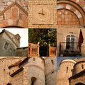 Croatia collage of croatian architecture details Royalty Free Stock Photos