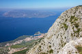 Croatia, Dalmatia, Biokovo mountains sea panoramic landscape Royalty Free Stock Photo