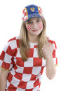 Croatia fan Stock Photos
