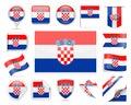 Croatia Flag Vector Set Royalty Free Stock Photo