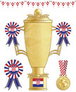 Croatia football trophy Stock Images