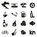 Croatia Icons Freehand Fill