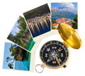 Croatia images and compass Royalty Free Stock Photography