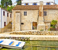 Croatia, Losinj island ancient house Royalty Free Stock Photo