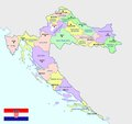 Croatia map - cdr format Royalty Free Stock Photo