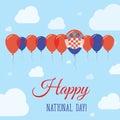 Croatia National Day Flat Patriotic Poster.