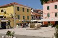 Croatia picturesque and touristy village of skradin the Stock Photos