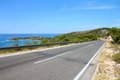 Croatia road along coast murter island Stock Image