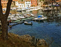 Croatia, Rovenska harbor at Losinj island Royalty Free Stock Photo