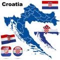 Croatia set. Royalty Free Stock Photo
