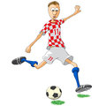 Croatia soccer player illustration of who hits the ball Stock Images