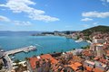 Croatia split in dalmatia old town cityscape famous unesco world heritage site Royalty Free Stock Photos