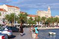 Croatia split september people visit the embankment on september in s historic center is a unesco world Royalty Free Stock Photo