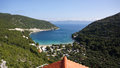 Croatia vista a beautiful view looking out at the adriatic sea Royalty Free Stock Photo