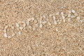 Croatia word made of pebbles Royalty Free Stock Photo