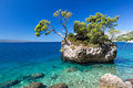 Croatian beach at a sunny day brela croatia in Royalty Free Stock Image