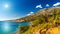 Croatian coast on the adriatic sea in summer Royalty Free Stock Image