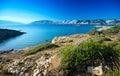 The Croatian coast -Lopar Royalty Free Stock Photo