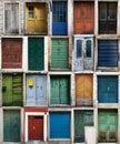 Croatian doors Royalty Free Stock Photo