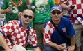 Croatian fans Stock Photography