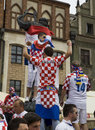 Croatian fans Royalty Free Stock Images