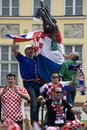Croatian fans (Euro2012) Royalty Free Stock Photography