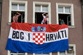 Croatian fans (Euro2012) Stock Photography