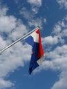 Croatian flag Royalty Free Stock Photo