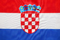 Croatian flag Royalty Free Stock Photo