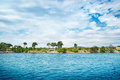 Croatian island with dramatic sky Royalty Free Stock Images