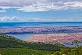 Chorvatský ostrovy letecký pohled