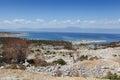 Croatian landscape adriatic sea and mountainous coast of croatia seen from the island of krk the largest island Stock Image