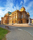 The Croatian National Theater Royalty Free Stock Photos