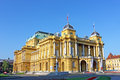 Croatian national theater in zagreb by day Royalty Free Stock Photos