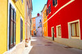 Croatian street bright colorful traditional novigrdad croatia Stock Images