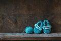 Crochet Baby Booties Royalty Free Stock Photo