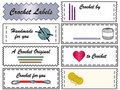Crochet Labels Royalty Free Stock Photo