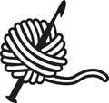 Crochet needle with wool