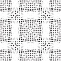 Crochet seamless pattern Royalty Free Stock Image