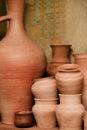Crockery made of clay Stock Photo