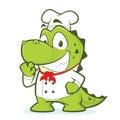 Crocodile or alligator chef
