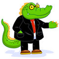 Crocodile businessman Royalty Free Stock Image