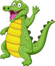 Crocodile cartoon Stock Photos