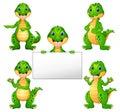 Crocodile cartoon set